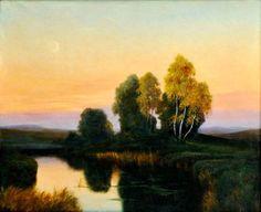 Aukčná spoločnosť SOGA spol. s r.o. - Diela/Podvečer pri rybníku - aukcie, diela, výtvarné diela, umenie, obrazy, starožitnosti, online aukcie, umelci