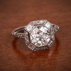 A beautiful engagement ring.