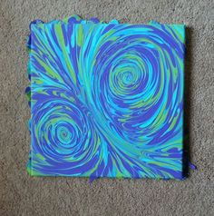 DIY canvas art using frog tape and acrylic paint   DIY Projects ...