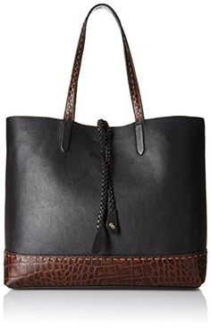 Cole Haan Pinch Tote BlackChocolate CrocodileMulti >>> Click on the image for additional details.