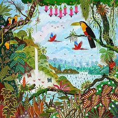 Toucans au jardin d'Eden d'Alain THOMAS