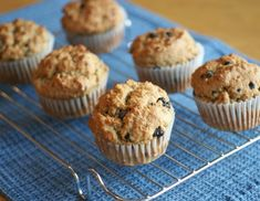 Stevia-Sweetened, Gluten Free Blueberry-Lemon Muffins (#vegan #recipe)