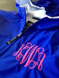 Monogrammed Rain Jacket | Monogram Rain Pullover | Greek Letters Pullover | Monogram Apparel | Monogram Sweatshirt | Personalized Gifts Lexington Kentucky