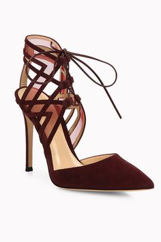 ffb868c103a Gianvito Rossi - Adria Suede d Orsay Point Toe Pumps. Shoes ...