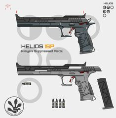 Weapon concept I designed for the assassin class of an inde game project. It's an advanced combat pistol with an integral suppressor and loaded with subsonic ammunition, perfectly suited for someone who prefers a stealthier playstyle and hit and run