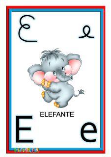 Alfabeto ilustrado colorido cartazes de parede - SÓ ESCOLA