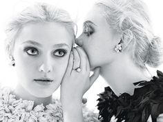 Dakota & Elle Fanning | Mario Sorrenti  #photography | W Magazine