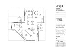 West LA Office Space Suite Space Planning Furniture Layout, Revised. #OfficeDesign