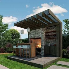 New Ideas For Diy Outdoor Kitchen Bar Patio Diy Outdoor Bar, Outdoor Kitchen Design, Outdoor Rooms, Outdoor Living, Outdoor Decor, Outdoor Kitchens, Outdoor Sauna, Luxury Kitchens, Outdoor Ideas