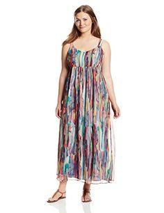df9a5797c8d Black Friday 2014 BB Dakota Women s Plus-Size Lowe Cascade Crinkle Chiffon  Maxi Dress