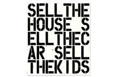 """Christie's New York to offer Christopher Wool's Apocalypse Now, 1988Christopher Wool, Apocalypse Now (""""SELL THE HOUSE, SELL THE CAR, SELL THE KIDS""""). Executed in 1988. Estimate: $15-20 million. Sold for $26,485,000. Photo: Christie's Images Ltd 2013.  More Information: http://artdaily.com/news/65427/Christie-s-New-York-to-offer-Christopher-Wool-s-Apocalypse-Now--1988#.Umfg25TEpbw[/url] Copyright © artdaily.org"""
