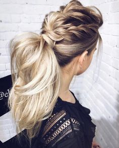 Fascinatingly cool braided ponytail Figure 3 – Prom hairstyles Informations About Faszinierend cool geflochtene Pferdeschwanz Abbildung 3 – Prom Frisuren Pin You can easily use [. Prom Hairstyles For Long Hair, Cool Braid Hairstyles, Braided Hairstyles, Wedding Hairstyles, Pretty Hairstyles, Hairstyle Ideas, Long Haircuts, Bridesmaid Hairstyles, Formal Hairstyles