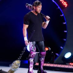 Kenny Omega appeared on the entrance ramp with a barbwire wrapped broom & baseball bat at Dynamite after Jon Moxley defeated Shawn Spears. Baseball Bat Weapon, Kenny Omega, Wrestling Stars, My Baby Daddy, Man Crush Everyday, Daniel Bryan, Nerd Love, Dean Ambrose, Wwe Wrestlers
