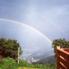 やっぱり虹は良いな #虹#kirei #綺麗#宝# (by evo128)