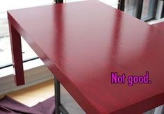 Mr. Handsomeface Blog » How (Not) To: Paint Ikea Furniture
