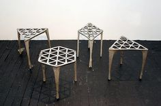 Max Lamb, 040. Hexagonal Pewter Stool
