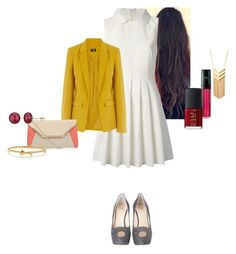 """""""Alison Joyce Barnes-Black"""" by katlayden ❤ liked on Polyvore featuring RED Valentino, Oasis, Giuseppe Zanotti, NARS Cosmetics, Forever 21, Kate Spade and A B Davis"""
