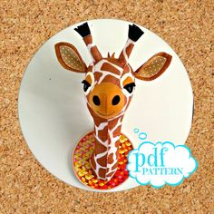 Say Hello to Gladys the faux taxidermy Giraffe. She has sass, she has attitude. Make her today with this easy to follow pdf pattern. _____________________________________________  WHAT PEOPLE SAY ABOUT MY PATTERNS  Love it, such easy instructions. Such fun patterns!  Love love love this pattern!! Easy to follow - I am NOT a seamstress but the end result looked very professional thanks to the easy instructions - will be purchasing many others!!  OVERVIEW  ✄ This a hand sewing pattern (or add…