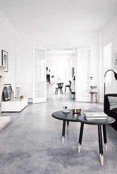 ein wohnzimmer mit industrie charme und beton fussboden noch mehr einrichtungsideen gibt es auf www