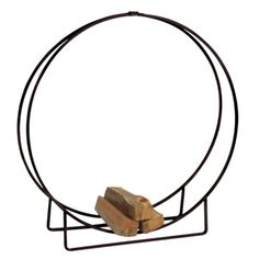 Log hoop will keep firewood dry and away from insects Outdoor log holder made of black steel ensures durability and stability Holds approxim. Wood Mantel Shelf, Rustic Mantel, Wood Mantels, Fireplace Mantels, Fireplaces, Fireplace Tool Set, Fireplace Design, Mantels Direct, Log Carrier