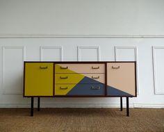 buffet enfilade vintage bleu canard et bleu glacier buffet enfilade bleu canard et glacier. Black Bedroom Furniture Sets. Home Design Ideas