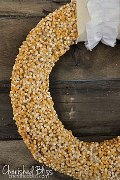 Autumn Popcorn Wreath Tutorial // Cherished Bliss