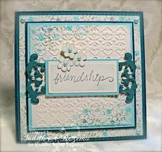 Like this layout and the use of embossing folder