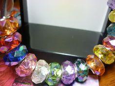 EURO SALE 3 Euro Style Beads AB acrylic Crystal  3 by GreenBohemia, $1.75
