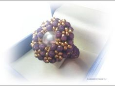 DIY tutorial anello Medea |Beadwork| medea ring| how to make a ring with seedbeads and crystals