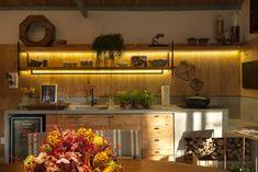Casinha colorida: Cozinhas com ares de casa de campo