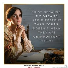 just because my are than yours, doesn't mean they are Literary Quotes, Movie Quotes, Feminist Quotes, Little Women Quotes, Meg March, Emma Watson Quotes, Just Because, Short Inspirational Quotes, Period Dramas