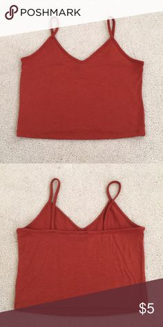 e490d9d630 Forever 21 tank Perfect crop length! ~ burnt orange color ~ worn once!  Forever