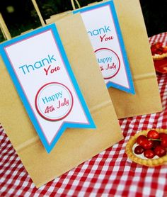 July 4th goodie bags - Bird's Party Blog - Party Supplies, Party Printables, Custom Paper Goods, Stationery and Party Crafts