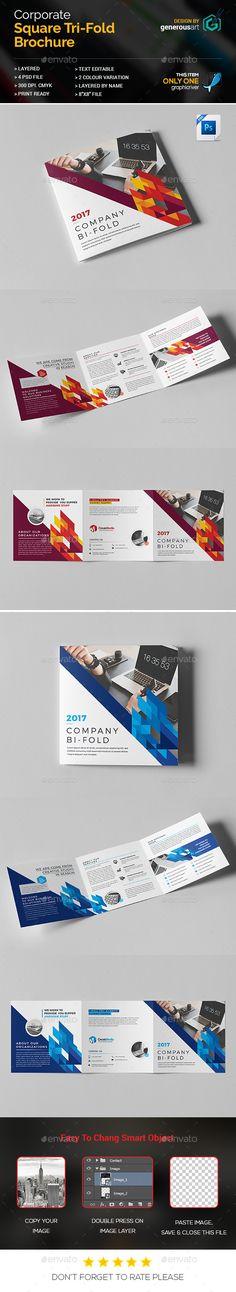Square Tri-Fold - #Corporate #Brochures Download here: https://graphicriver.net/item/square-trifold/19740344?ref=alena994