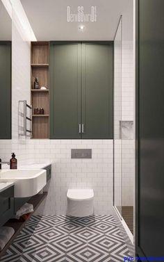 bathroom layout Residential appartment on Behance Bathroom Design Small, Bathroom Interior Design, Modern Bathroom, Bathroom Ideas, Kitchen Interior, Small Bathroom Inspiration, Washroom Design, Interior Livingroom, Budget Bathroom