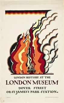 McKnight Kauffer, London Museum, 1922