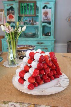 Donut Holes & Strawberries kabobs --