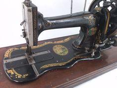 Antique PFAFF K sewing machine from 1906 in Wood Case °hand crank° Nähmaschine