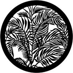 Rosco HD Plastic Gobo - Tropical Leaves