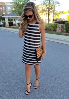 Stripe sequin dress #swoonboutique