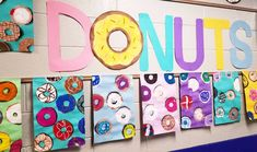 grade donuts are up! Arts And Crafts For Teens, Art And Craft Videos, Art For Kids, 2nd Grade Art, Art Lessons Elementary, Middle School Art, Arts And Crafts Movement, Art Lesson Plans, Art Classroom