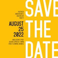 Save the Date Invitation Design - Design Template Poster Design Layout, Graphic Design Posters, Graphic Design Typography, Graphic Design Inspiration, Simple Poster Design, Poster Designs, Typography Inspiration, Typography Fonts, Media Design