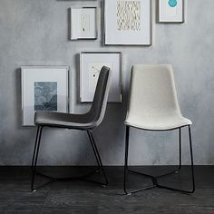 Slope Dining Chair #westelm- like them in charcoal heather tweed