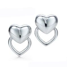 Tiffany & Co Outlet Puffed Heart Earrings