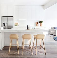 Get the look: modern white kitchen. Photography by Lisbeth Grosmann.