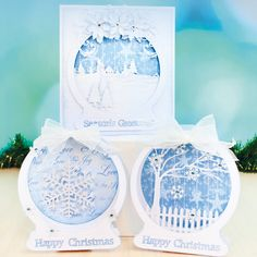 The Tattered Lace Christmas Special Magazine 2015 Complete with Poinsettis Die and Embossing Folder Die Cut Christmas Cards, Simple Christmas Cards, Fall Cards, Winter Cards, Christmas Greeting Cards, Acetate Cards, Z Cards, Winter Karten, Tattered Lace Cards
