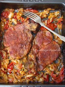 The home flavors: pork pan Letcho Breakfast Lunch Dinner, Breakfast Recipes, Meat Recipes, Chicken Recipes, Food 52, Paleo, Pork, Food And Drink, Snacks