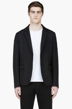 MARNI Black Sheen Relaxed Blazer