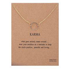 Карма Двухместный цепи Круг ожерелье позолоченный Кулон ожерелья Моды Ключицы Цепи Себе Ожерелье Женщины Ювелирные Изделия