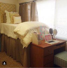 Arkansas state university- Dorm room Girl College Dorms, College Dorm Rooms, College Life, University Dorms, Arkansas State University, Dorm Room Designs, College Apartments, College Dorm Decorations, Cute Dorm Rooms